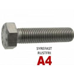 Din 933 Sætbolt Rustfri A4