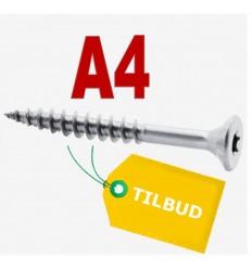 Pakketilbud Rustfri A4 spånskruer