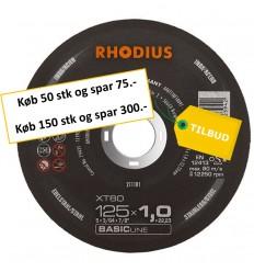 Rhodius XT80 125x1,0 mm til vinkelsliber