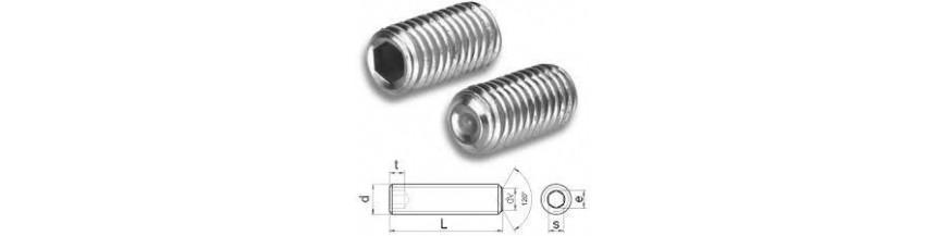 Pinolskruer DIN 916 sort og A4